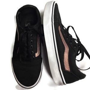 Vans Ward Sneaker Rose Gold & Black Size 7